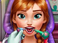Jouer à Anna va chez le dentiste