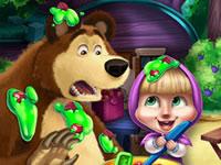 Jeu gratuit Masha et Bear à la cuisine