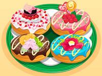 Jeu Recette de donuts colorés