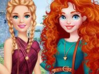 Jouer à Barbie et Merida