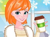 Jouer à Elsa et Anna adorent l'hiver