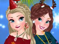Jeu Anna et Elsa Sweats de Noël