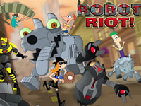 Jeu Phineas and Ferb Robot Riot