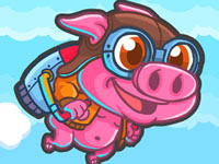 Jouer à Rocket Pig - Tap to Fly