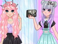 Jeu Anna et Elsa Pastel Goth