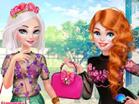 Jeu Elsa et Mérida à la mode