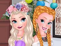 Jeu Elsa et Anna Pool Party