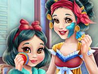 Jeu Blanche-Neige Maquillage Mère/Fille