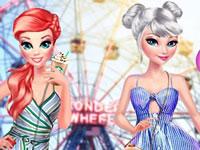 Jeu Ariel et Elsa à New York