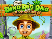 Jeu gratuit Dino Dig Dag: Archaeology