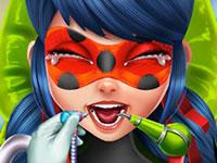 Jouer à Miraculous Ladybug chez le dentiste