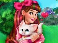 Jouer à Victoria adopte un chaton