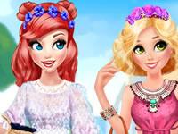 Jouer à Ariel et Raiponce Bohu00e8mes