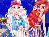 Jeu Elsa et Ariel - Soirée sur la plage