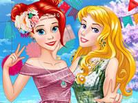Jeu Ariel et Aurore se relookent