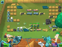 Jeu Phineas and Ferb Backyard Defence