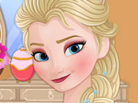 Jeu Maquillage d'Elsa en 2 temps
