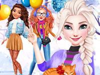 Jeu Patinoire avec les princesses Disney