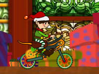 Jeu Christmas Elf Bike