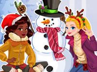 Jeu Le bonhomme de neige d'Audrey et Noelle