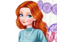 Jouer à Princesse en vu00eatements tricotu00e9s