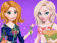 Jouer à Anna et Elsa - Vacances au Soleil