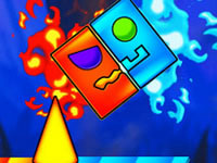 Jeu Fire And Water Geometry Dash