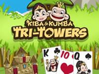 Jouer à Kiba & Kumba Tri Towers Solitaire
