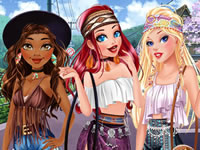 Jeu Princesses Disney et Hippies