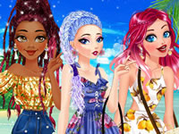 Jeu Coiffures nattées pour les princesses