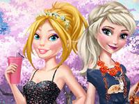 Jeu Barbie et Elsa Tenues du jour