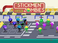 Jeu Stickmen Vs Zombies