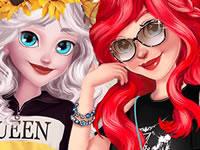Jeu Ariel et Elsa sur Instagram