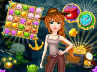 Jeu gratuit Match 3 Hidden Treasure Hunt