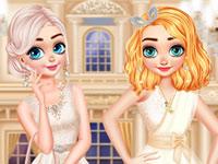 Jeu Anna et Elsa relooking pour l'école