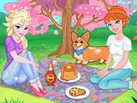 Jeu Printemps sous les cerisiers en fleurs