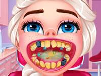 Jeu Elsa va chez le dentiste