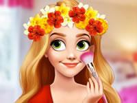 Jeu Raiponce et sa couronne de fleurs