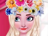 Jeu gratuit Elsa et la couronne de fleurs