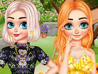 Jeu Anna, Elsa et leur jardin