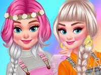 Jeu Les princesses et la roulette des couleurs