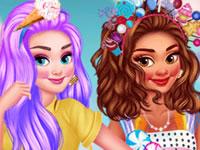 Jeu Princesses et Monde de Bonbons