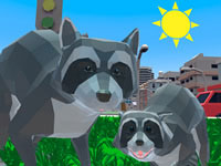 Jeu Raccoon Adventure City Simulator 3D