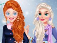 Jeu Anna et Elsa - Influence en Hiver