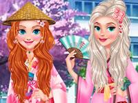 Jeu Princesses en voyage au Japon