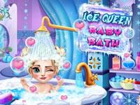 Jeu Bain avec Bébé Elsa