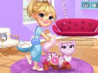 Jeu La fille et le petit chat