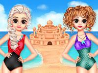 Jeu Princesses et château de sable