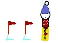 Jeu Snowboard Slalom Xtreme!