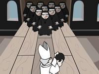 Jeu Papal Bowling